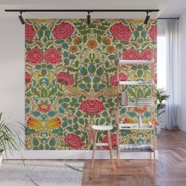 William Morris Roses Floral Textile Pattern Wall Mural