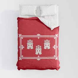 flag of aberdeen (scotland) Comforters