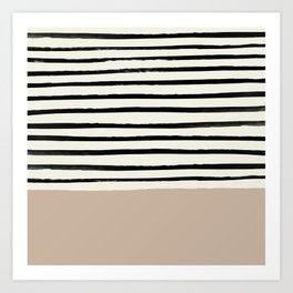 Latte & Stripes Kunstdrucke
