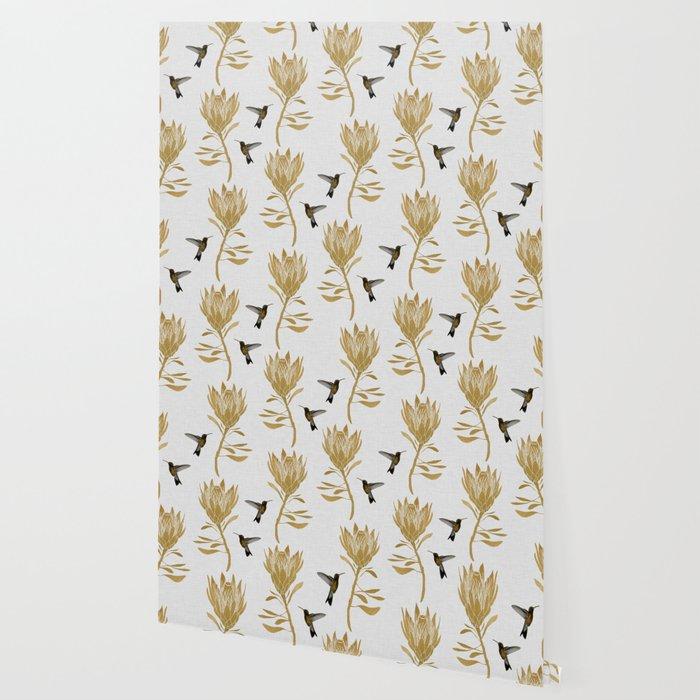 Hummingbird & Flower I Wallpaper