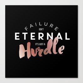 Just A Hurdle Canvas Print