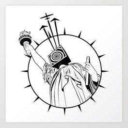 Manipulated Statue Of Liberty Art Print