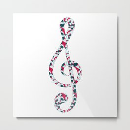 Musical repeating pattern No.5, Collection No.1 Metal Print