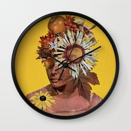 Keep Me Hidden Amongst the Fruit and Flowers Wall Clock