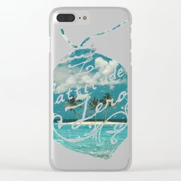 Vintage coconut islan Clear iPhone Case