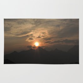 Sunset behind the Grand Tetons Rug