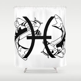 Pisces, the Fish Shower Curtain