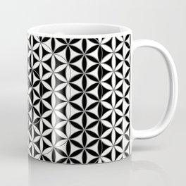 Flower of Life Black White 5 Coffee Mug