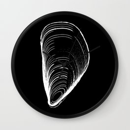 mussel by midollo Wall Clock