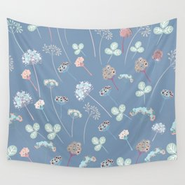 Beautfiul floral vector pattern with rustic flowers Wall Tapestry