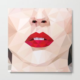 Low Poly Portrait Metal Print