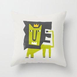 King Lion Throw Pillow