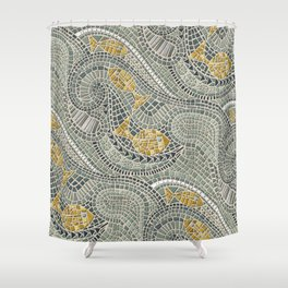 mosaic fish Shower Curtain