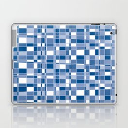 Mod Gingham - Blue Laptop & iPad Skin