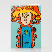 super hero Stationery Cards featuring Joe Pansa Super Hero by Joe Pansa