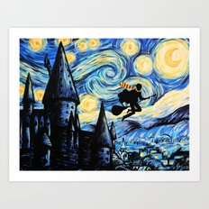 Potter Starry Night Art Print