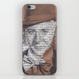 Willy Wonka Portrait with Pure Imagination Lyrics iPhone Skin