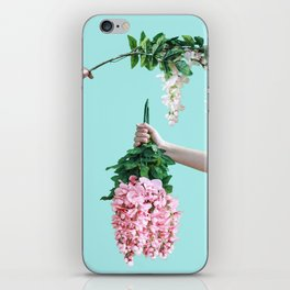 1992 Floral Episodes (Aqua) iPhone Skin