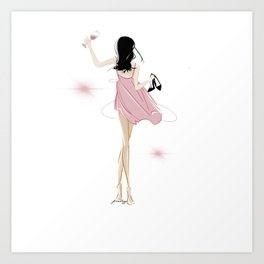 Girl Just Want to Have Fun All Night Long Art Print