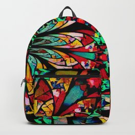 Multi Color Abstract Fractal Art Backpack