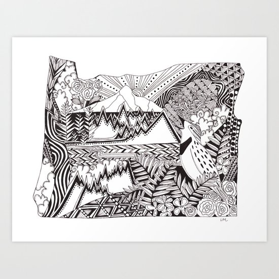 Oregon in Ink by lauramax