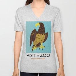 visit the Zoo Golden eagle Unisex V-Neck