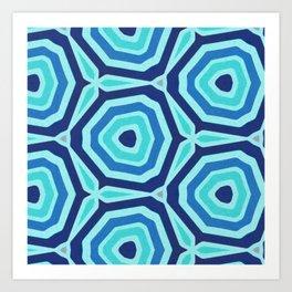 Bet on Blue - Abstract Circles Art Print