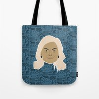 parks and recreation Tote Bags featuring Leslie Knope - Parks and recreation by Kuki
