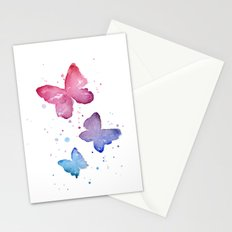 Butterflies Watercolor Stationery Cards