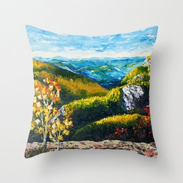 Landscape painting - Autumn dreams - by LiliFlore Throw Pillow