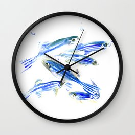 Zebra Fish, Danio Wall Clock