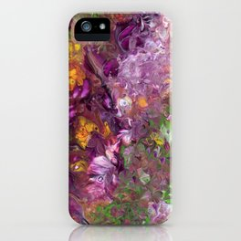Abstract Floral Acrylic Painting iPhone Case
