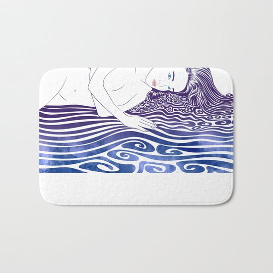 Water Nymph XLI Bath Mat