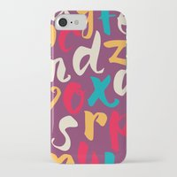 lettering iPhone & iPod Cases featuring Lettering ABC by Sudjino