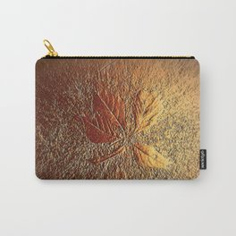 Rust glitter leaves in fall Carry-All Pouch