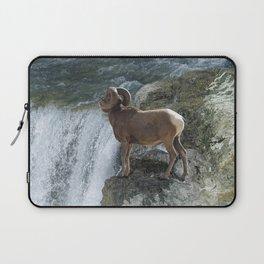 Big Horn Sheep & Rocky Mountain Waterfall Laptop Sleeve