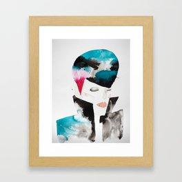 Color-bleed Portrait of a Rocker Framed Art Print