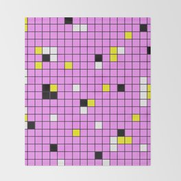 Mingling - Abstract, conceptual, minimalistic, geometric artwork Throw Blanket