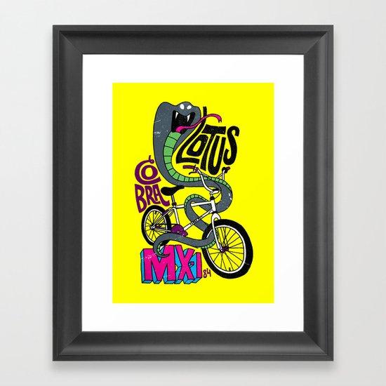 Lotus BMX Framed Art Print