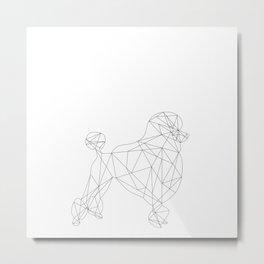 Poodle - white Metal Print