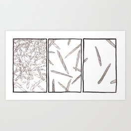 Blunts Triptych Art Print