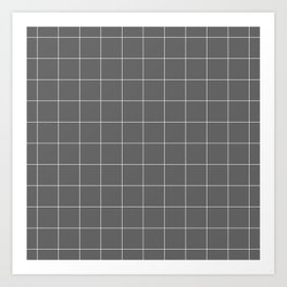 Grey and White Grid Art Print
