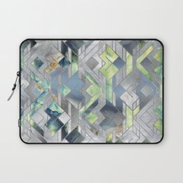 Geometric Translucent Agate and Mother of pearl Laptop Sleeve
