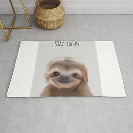 sloth print, children's room decor,  sloth art Rug