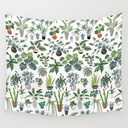 plants and pots pattern Wall Tapestry