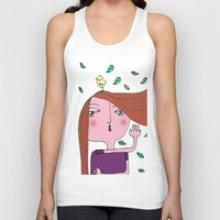 sarah paulson Tank Tops featuring Sarah by Alfonnew Shop