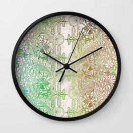 big green leaf lace Wall Clock