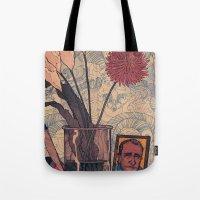 bukowski Tote Bags featuring its bukowski by TYLER WINTERMUTE
