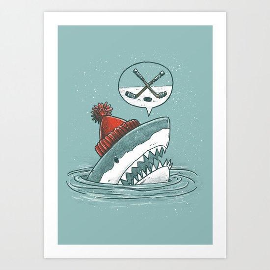 Hockey Shark Art Print