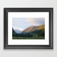 Golden Mountain Sunset Framed Art Print